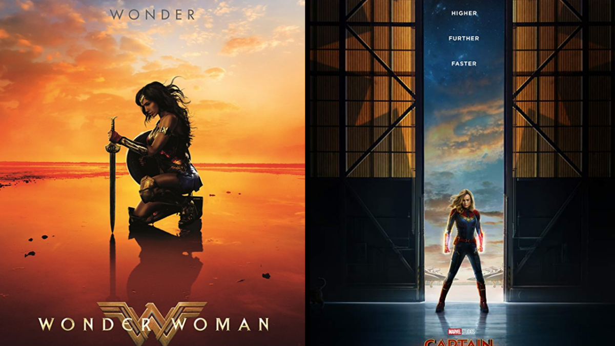 Is It Just Me or Are The Posters for 'Wonder Woman' and 'Captain Marvel' Similar?