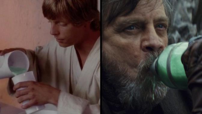 Luke Skywalker: Blue Milk to Green Milk?