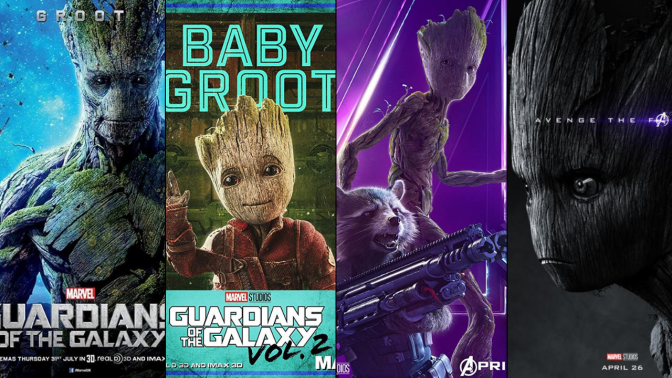 A Six-Year Poster Evolution: Groot